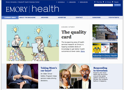 Thumbnail of screenshot for Emory Health Magazine Content Management